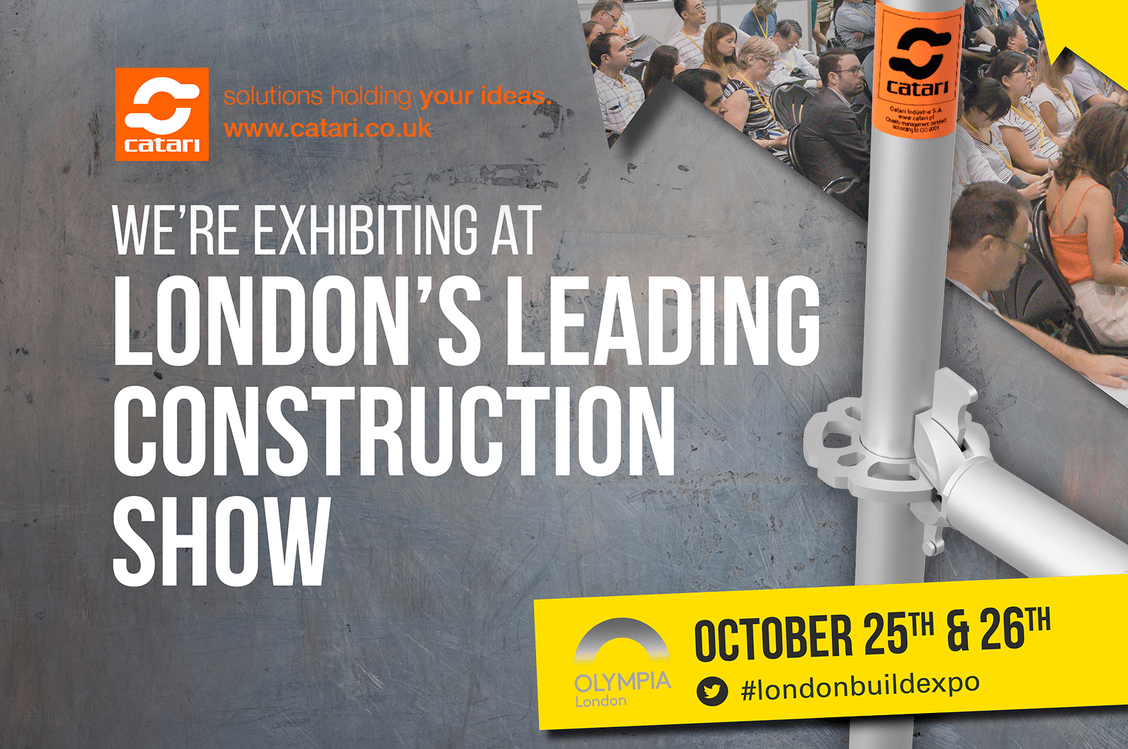 Catari, andaime, london build 2017, feira de construction