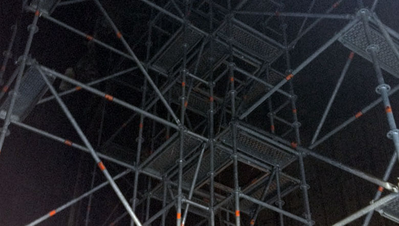 100 m high scaffold for power plant chimney