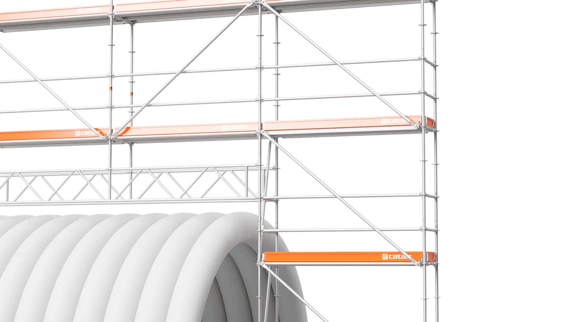 scaffolding beams assembly